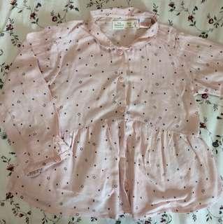 ZARA Baby Girl Pink Star Shirt