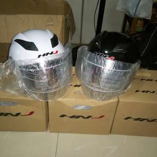 HNJ 518 Open face helmet (Black and White)