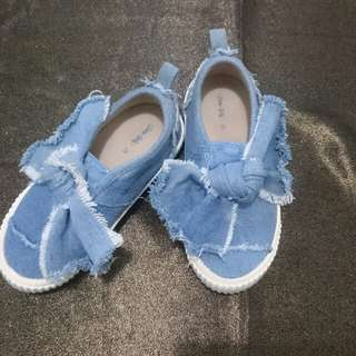 Zara denim shoes sz 26