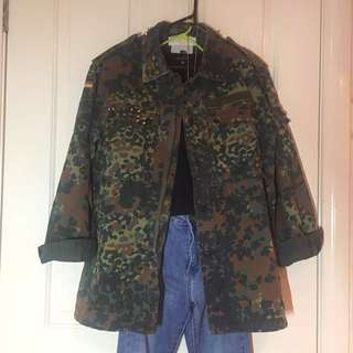 Sports Girl Military/Army Jacket