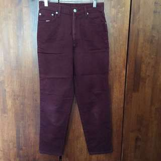 CLEARANCE Maroon Jeans #semuarm5