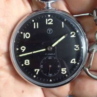 Military Dial Pocket Watch
