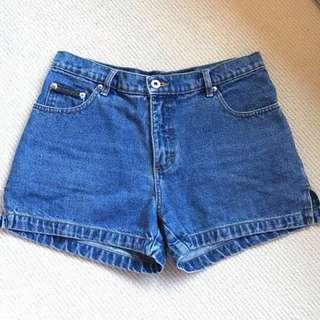 Blue Wash Denim Jean Shorts