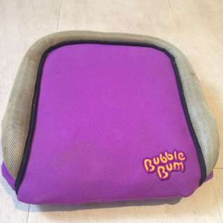 Booster seat 'bubble bum'
