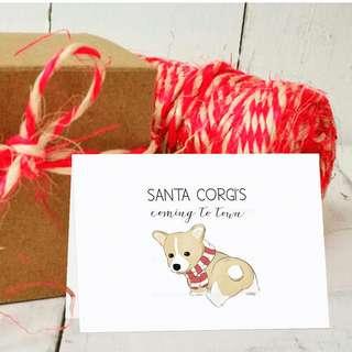 CHRISTMAS CARD SALE Funny and Cute Christmas Card Unique designs Fun Christmas greeting card pun Corgi Christmas Card