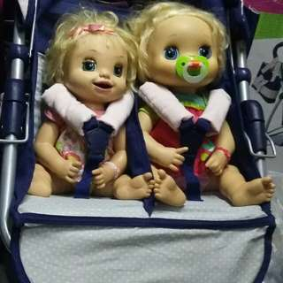 Twin stroller fit sa baby alive
