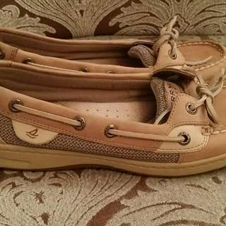 Sperry's Brown Leather Boat shoes - size 7