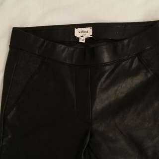 Aritzia Wilfred Leather Tights - XXS