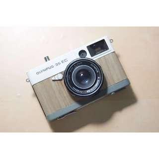 Olympus 35 EC 東北銀香木 底片相機估焦非旁軸木紋羅森Ronson老相機古董mechanman手作銀鹽老相機