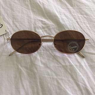 Sunglasses: Sunnies Maru Brown Oval Frame Shades