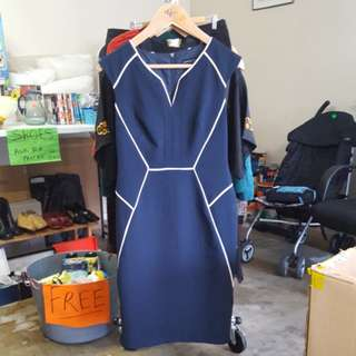 Fitted navy dress size 10UK