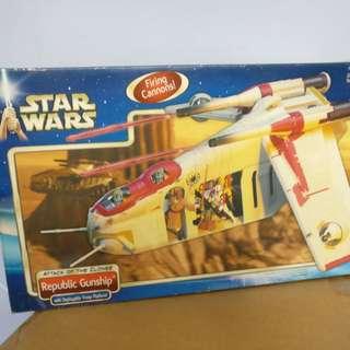 Hasbro Star Wars Attack of the Clones Republic Gunship