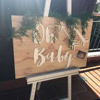 Baby shower decoration or welcome board
