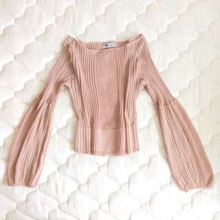 Petite Stretchy Bell Sleeve Top