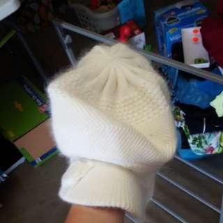 Cute white hat