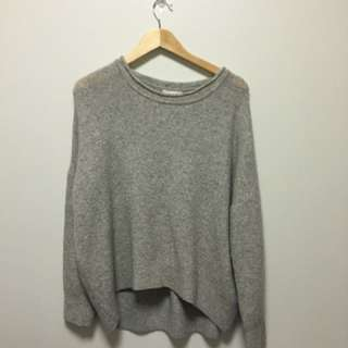 H&M GREY OVERSIZED SWEATER