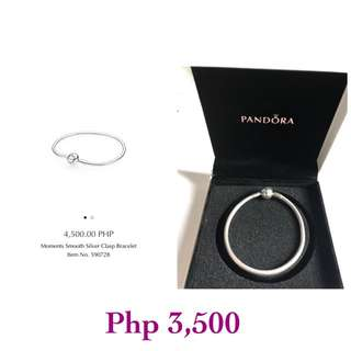 PANDORA Moments Smooth Silver Clasp Bracelet