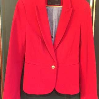 紅色Zara 西裝外套