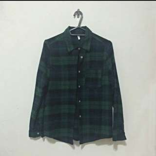 綠格紋襯衫