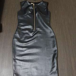 Black Leather Dress *BNWT*