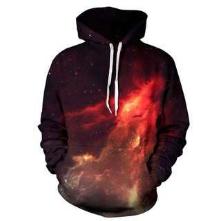 [PO] Fire Red Galaxy Hoodie