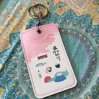 Gantungan Kunci Card Holder, Pink, Korea