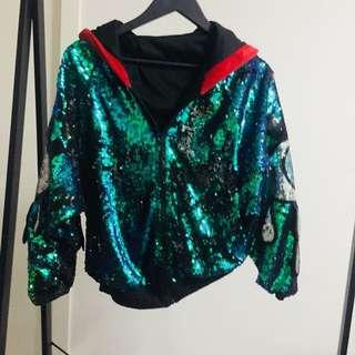 Earthcore sequin eye jacket