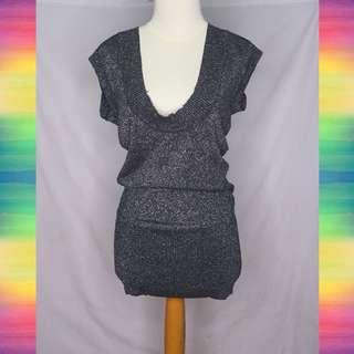 Grey Glitter Dress