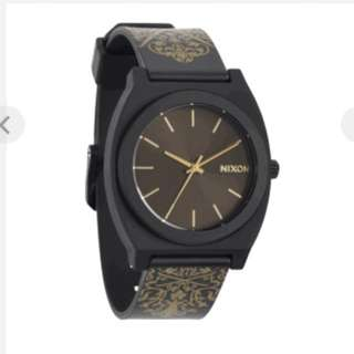 NIXON Time Teller P Black/Gold Ornate Watch