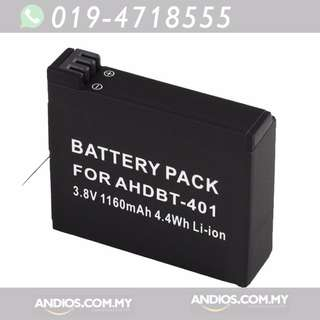 In-Stock✔GoPro Hero 4 Compatible AHDBT-401 Rechargeable Battery 1160mah