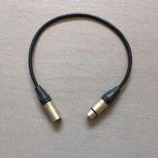 XLR-3(M) to XLR-3(F) Cable (0.4m)