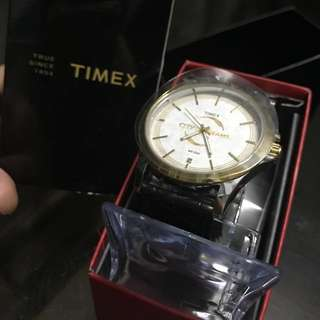 (Repriced) Timex Mens Leather Watch
