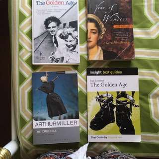 Selling: golden age $10, crucible $12, year of wonders $10 & golden age text guide $8