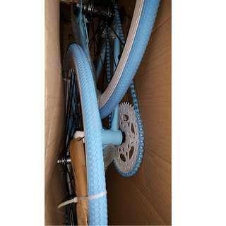 Blue Fixie Bike New Open Box