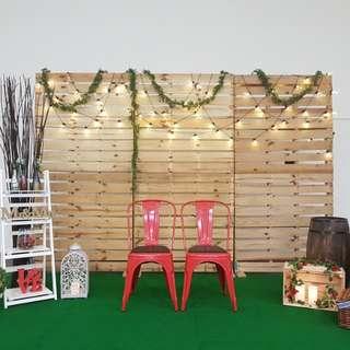 EVENT RENTAL : Wooden Pallet Backdrop