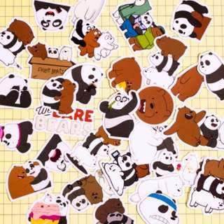 30pcs Cartoon Sticker - We Bare Bear