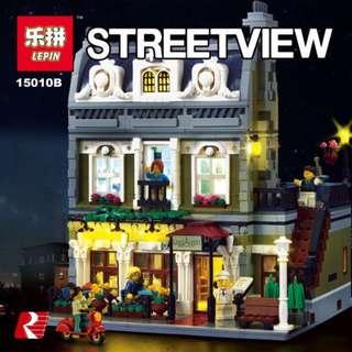 Lego compatible partisan restaurant (LED version)