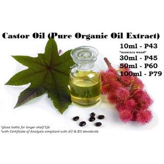 Castor Oil (Pure Organic Oil Extract) - Certified