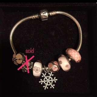 Pandora Bracelet + 7 charms