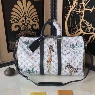 Louis Vuitton LV Keepall and LV Clutch