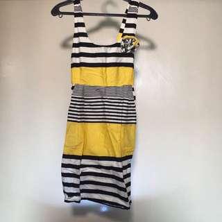 Black-Yellow Stripe Dress