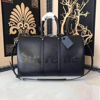 Louis Vuitton LV Keepall x Supreme travel bag