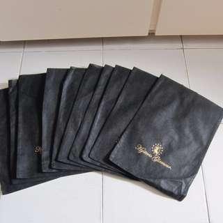 全新(5面交/平郵)HYSTERIC GLAMOUR DUST BAG黑色防塵袋WALLET銀包CDG LEVIS VISVIM PORTER JAPAN