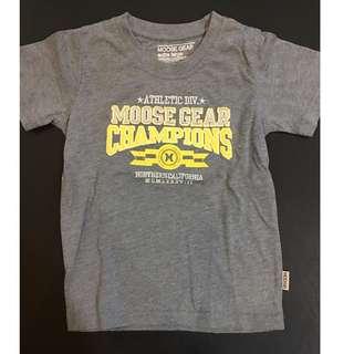 Moose Gear Gray printed shirt (2-4yo)