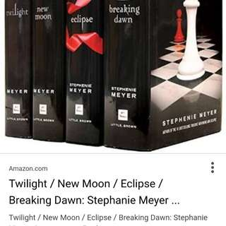 Complete set of twilight books