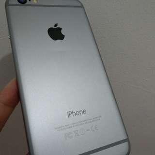 Iphone 6 16GB + dusbox , charger cuma gak ada headset aja
