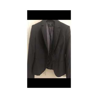 Cue size 8 suit jacket and skirt - dark grey