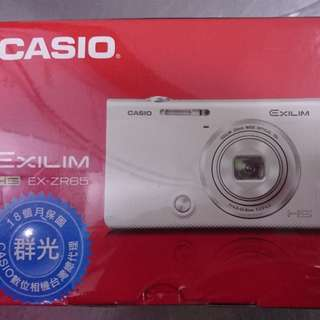 🚚 全新 卡西歐 CASIO EX-ZR65WE 白色 ZR65 翻轉螢幕相機