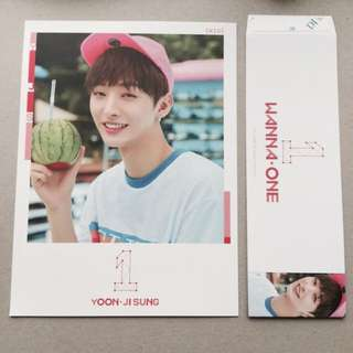 wanna one yoon ji sung pink cover + sleeve