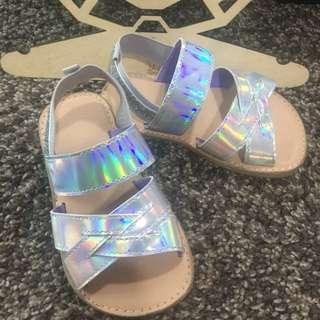 H & M silver kids sandal